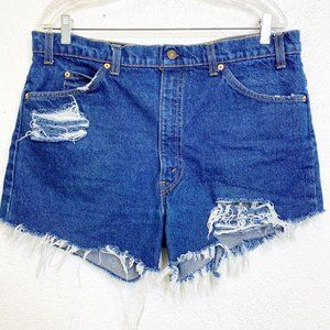 Vintage Levi's 517 Orange Tag Jean Shorts 16